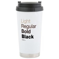 Helvetica Neue Travel Coffee Mug