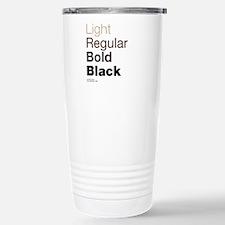 Helvetica Neue Travel Mug