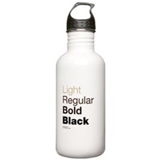 Helvetica Neue Sports Water Bottle