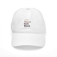 Helvetica Neue Baseball Cap