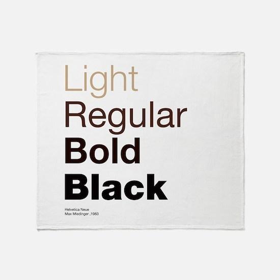 Helvetica Neue Throw Blanket