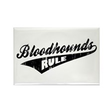 Bloodhounds Rule Rectangle Magnet