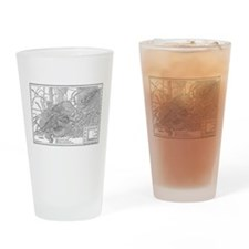 Athens Map 2 Drinking Glass