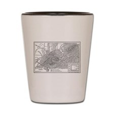 Athens Map 2 Shot Glass