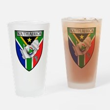 South African Soccer Drinking Glass