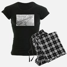 Athens and Piraeus Map Pajamas