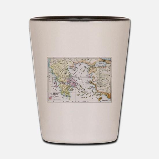 Athenian Empire Color Map Shot Glass