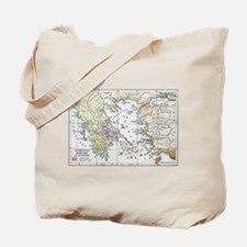 Athenian Empire Color Map Tote Bag