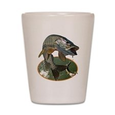 Musky Fishing Shot Glass