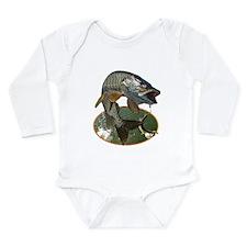 Musky Fishing Long Sleeve Infant Bodysuit