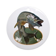 Musky Fishing Ornament (Round)