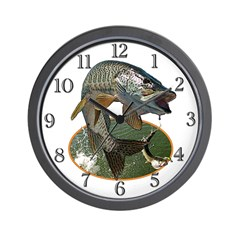 Musky Fishing Wall Clock