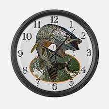 Musky Fishing Large Wall Clock