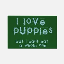 I Love Puppies Rectangle Magnet