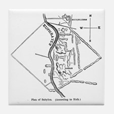 Babylon Plan Tile Coaster