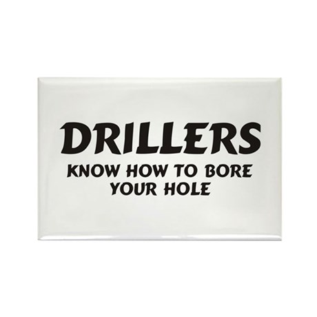 Drillers Rectangle Magnet