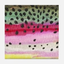 Rainbow Trout Skin Fishing Tile Coaster
