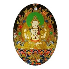 Chenrizig Ornament (Oval)