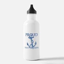 Proud Navy Grandpa Water Bottle