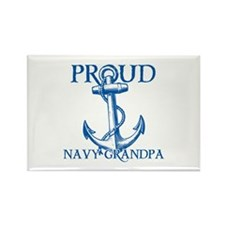 Proud Navy Grandpa Rectangle Magnet