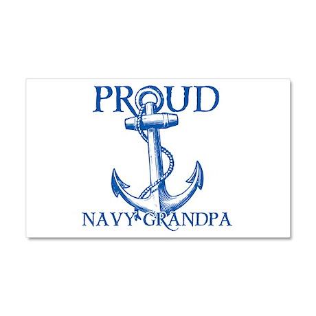 Proud Navy Grandpa Car Magnet 20 x 12