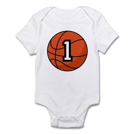 Basketball Player Number 1 Infant Bodysuit