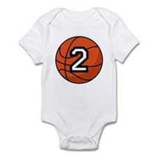 Basketball Player Number 2 Infant Bodysuit