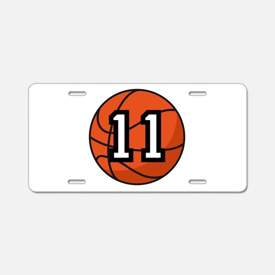 Basketball Player Number 11 Aluminum License Plate