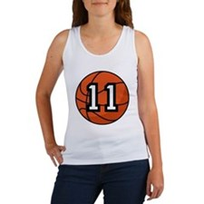 Basketball Player Number 11 Women's Tank Top