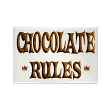 Chocolate Rules Rectangle Magnet (10 pack)