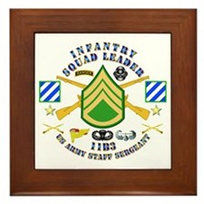Infantry - Squad Leader - 3rd Infantry Framed Tile