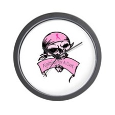 Breast Cancer Skull -- Fighting For A Cure Wall Cl