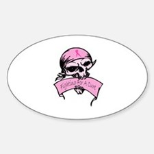 Breast Cancer Skull -- Fighting For A Cure Decal