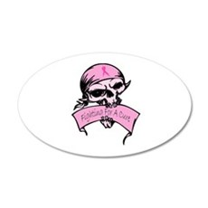 Breast Cancer Skull -- Fighting For A Cure 22x14 O
