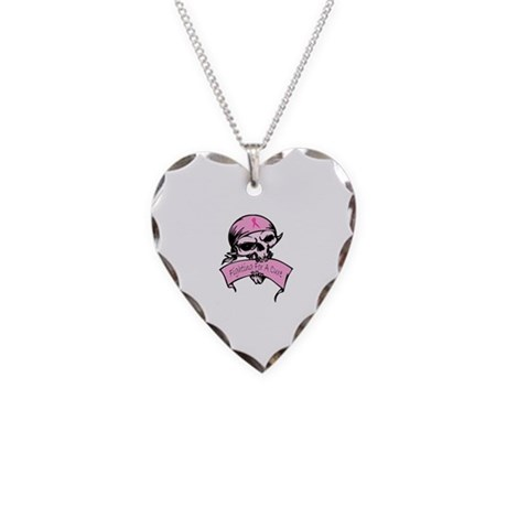 Breast Cancer Skull -- Fighting For A Cure Necklac