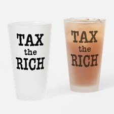 TAX the RICH Tshirts and Products Drinking Glass