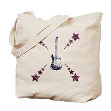 Guitar and Stars Tote Bag