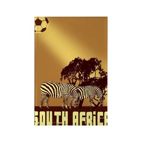 South African Zebras Rectangle Magnet (100 pack)