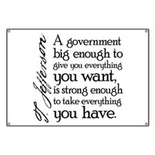 Jefferson Big Government Banner