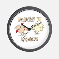 """""""Poultry in Motion"""" Wall Clock"""