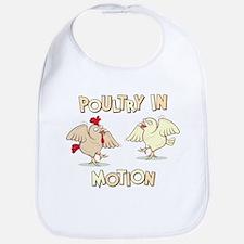 """""""Poultry in Motion"""" Bib"""
