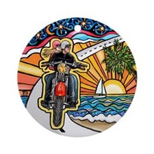 Motorcycle Skyway #1 Ornament (Round)