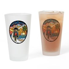 Motorcycle Skyway #1 Drinking Glass