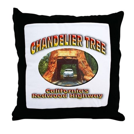 Chandelier Tree Throw Pillow