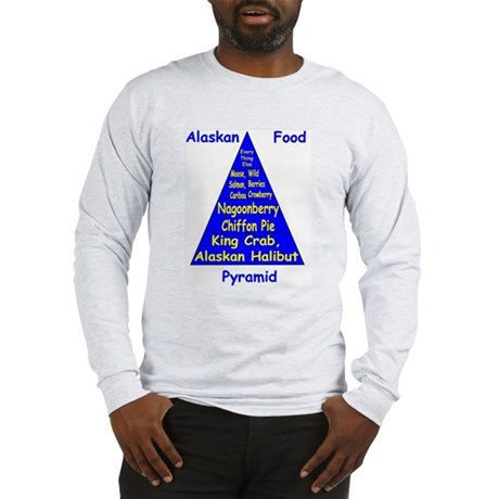 Alaskan Food Pyramid Long Sleeve T-Shirt