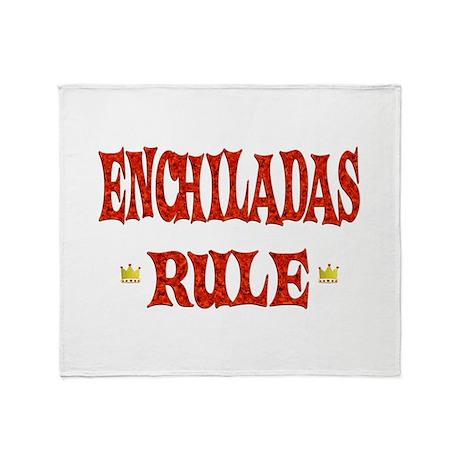 Enchiladas Rule Throw Blanket
