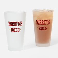 Burritos Rule Drinking Glass