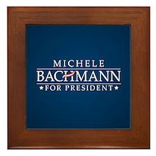Michele Bachmann Framed Tile