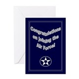 Joining the air force Greeting Cards
