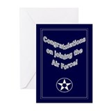 Contratulation joining the air force Greeting Cards (10 Pack)